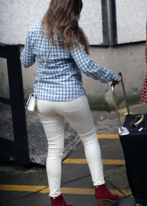 Kelly Brook in White Jeans at ITV Studios in London