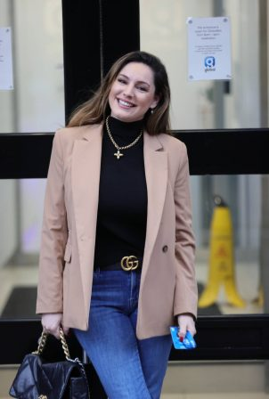 Kelly Brook - Is spotted at Heart radio in London