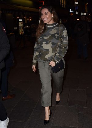 Kelly Brook - Leaves Global studios in London