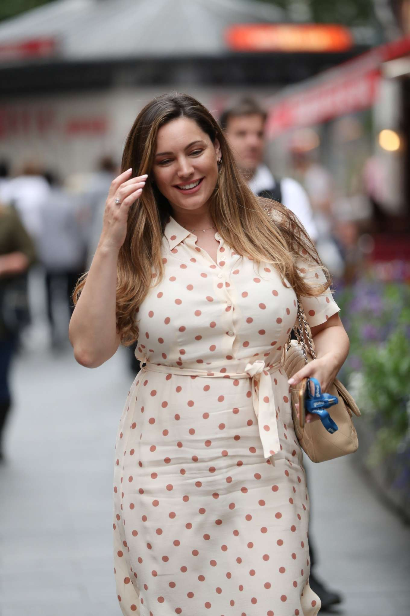 Kelly Brook - Leaving Heart FM Studios in London