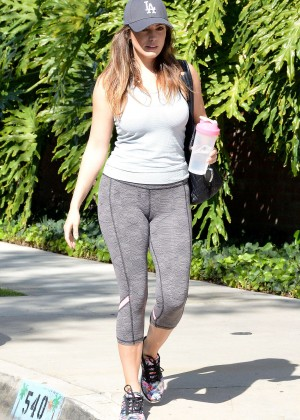 Kelly Brook in Spandex Leaving the gym in LA
