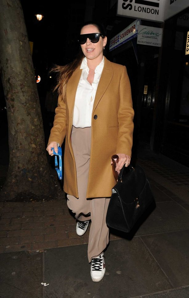 Kelly Brook - Leaving the Heart FM studios in London