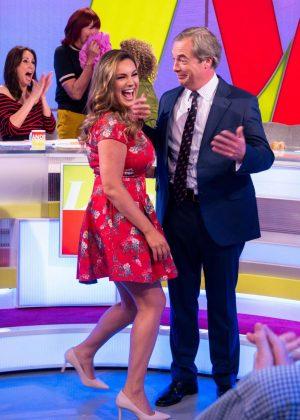 Kelly Brook - Loose Women TV Show in London