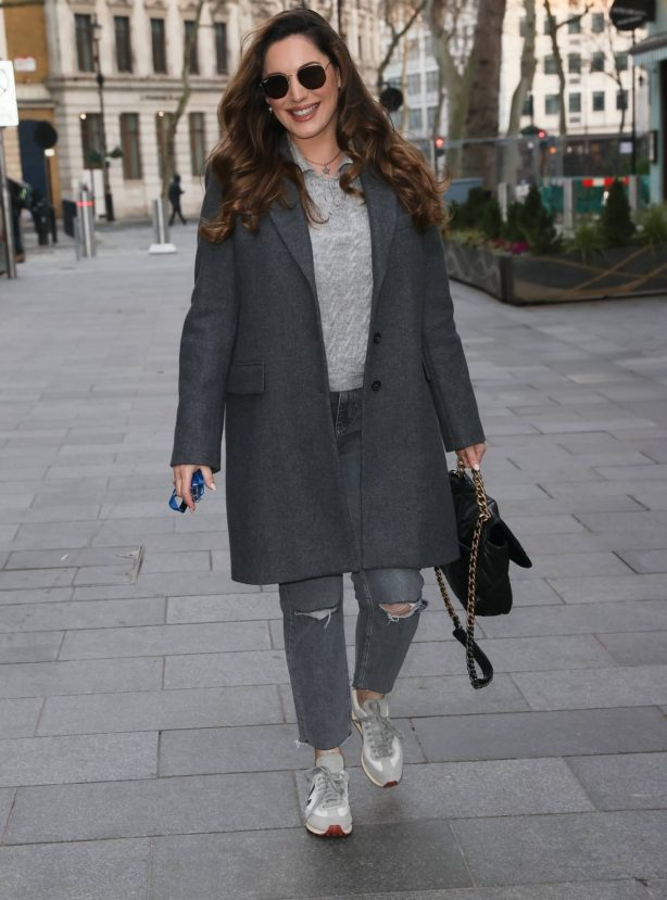 Kelly Brook - Makes appearance at Heart radio in London