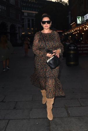 Kelly Brook - Night out at Global Radio in London