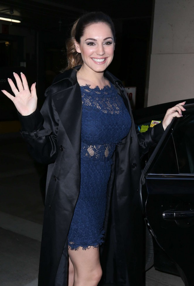 Kelly Brook in Tight Mini Dress Out in NYC