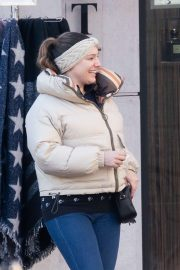 Kelly Brook - Out for shopping in ski-resort Megeve