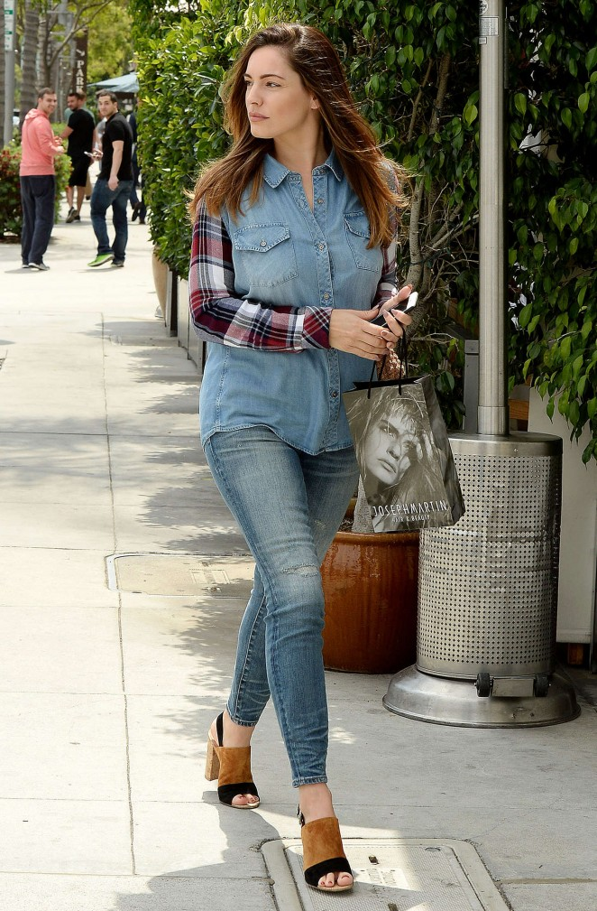 Kelly Brook in Jeans out in Beverly Hills