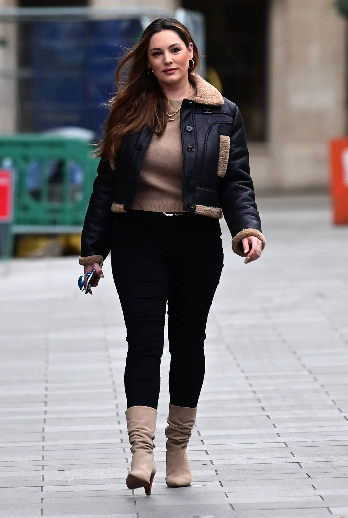 Kelly Brook - Pictured arriving at the Global Radio Studios in London