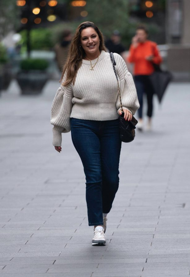 Kelly Brook - Pictured at Global Radio in London