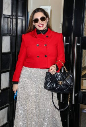 Kelly Brook - Pictured at The Global Radio Studios in London