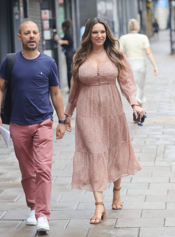 Kelly Brook - Returns to work after her holiday in London