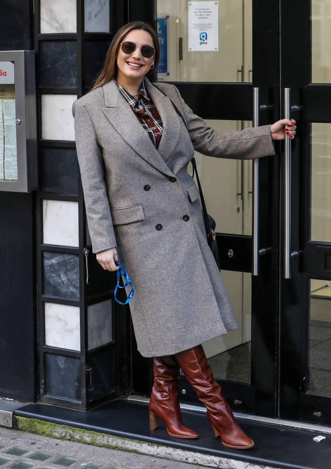 Kelly Brook - Seen arriving at the Global Radio Studios in London