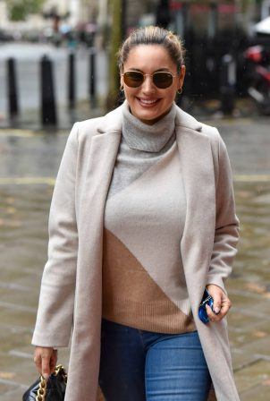Kelly Brook - Seen at the Global studios in London