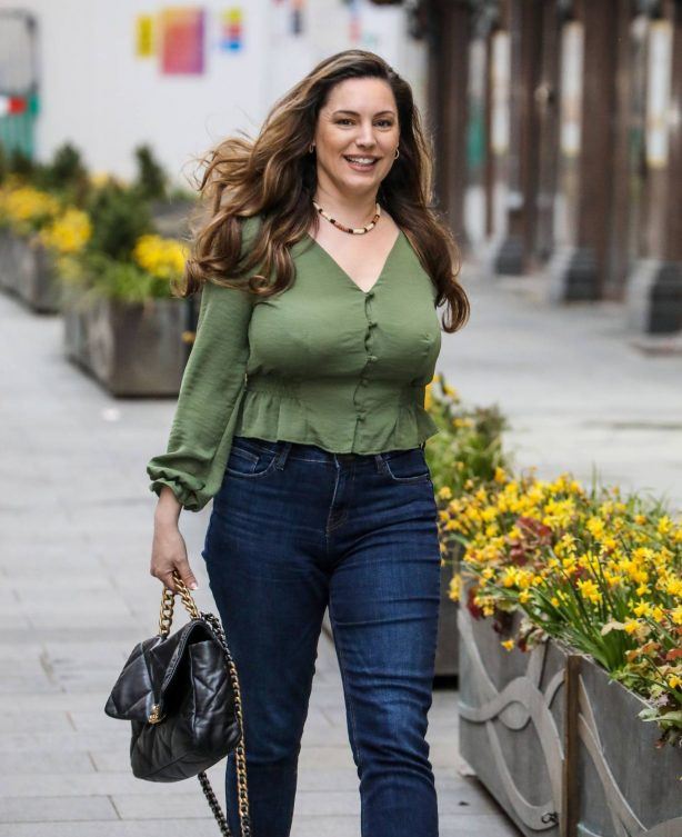 Kelly Brook - Seen departing her Heart FM show