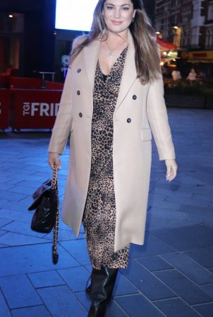 Kelly Brook - Seen leaving global studios in London