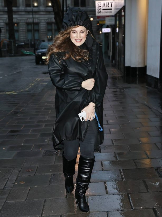 Kelly Brook - Seen on a rainy day at Smooth Radio Studios in London