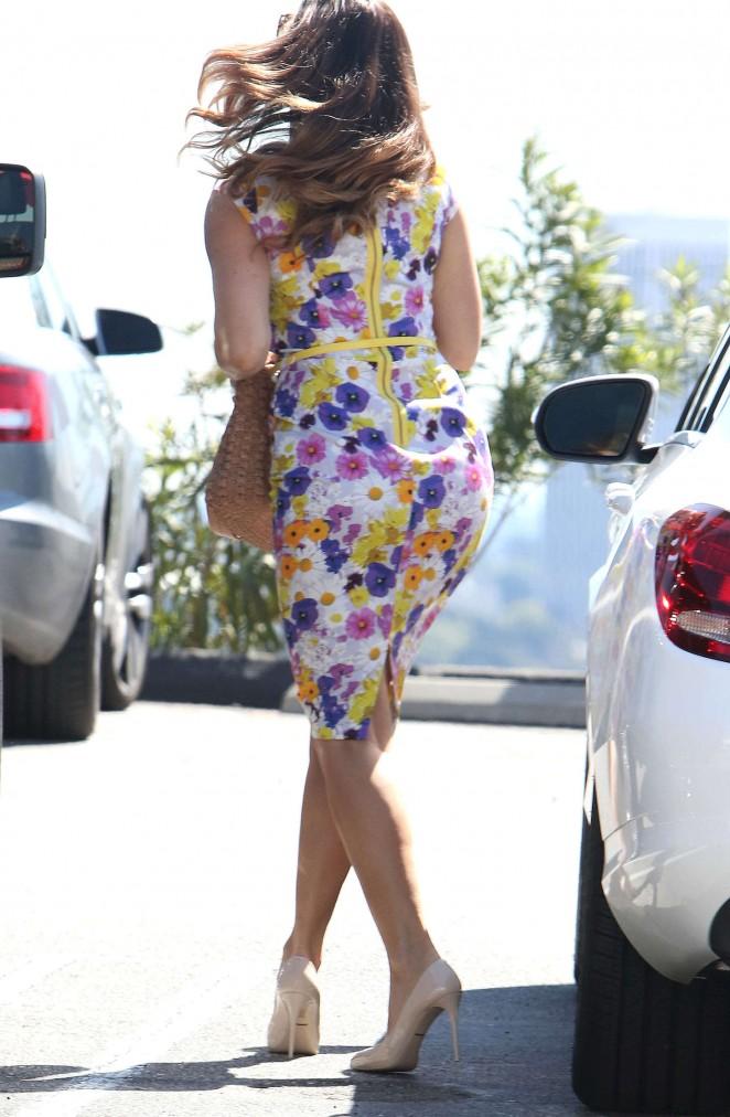 Kelly Brook 2015 : Kelly Brook in Floral Tight Dress -04