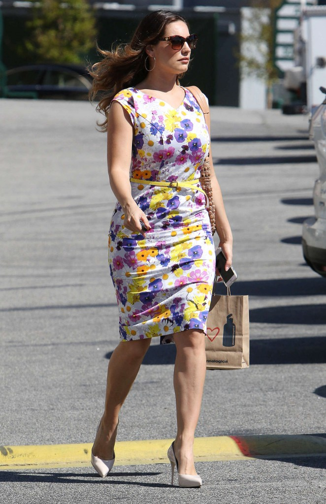 Kelly Brook 2015 : Kelly Brook in Floral Tight Dress -05