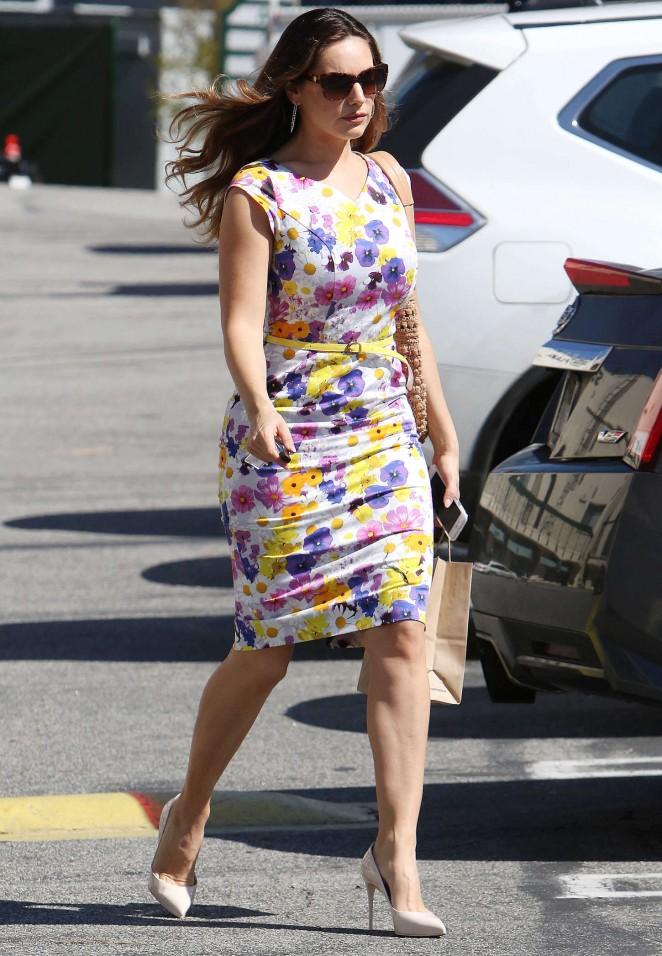 Kelly Brook 2015 : Kelly Brook in Floral Tight Dress -07