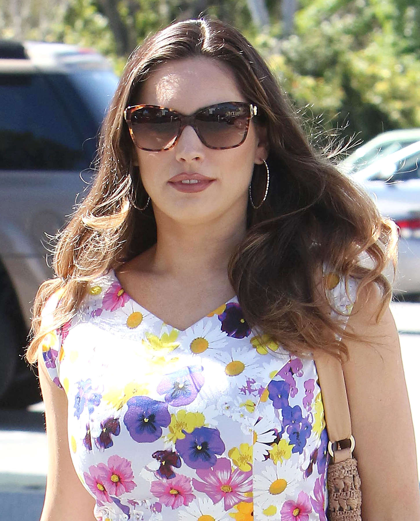Kelly Brook 2015 : Kelly Brook in Floral Tight Dress -12
