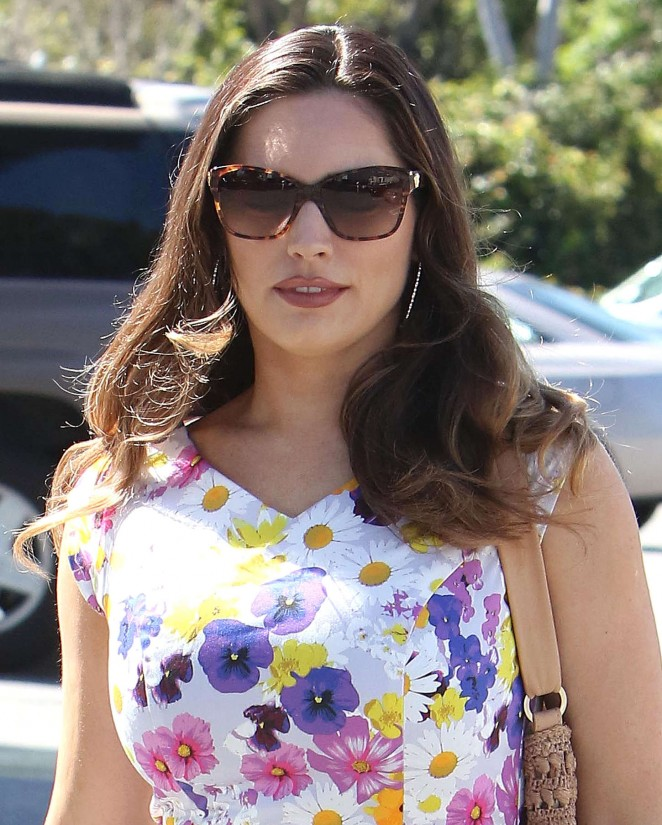 Kelly Brook in Floral Tight Dress -13