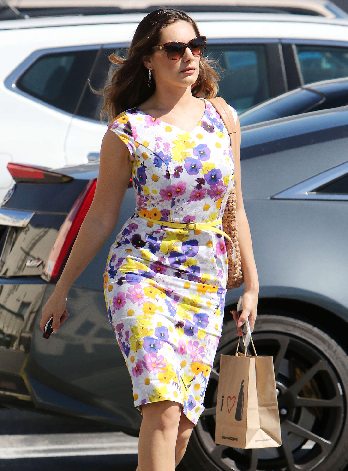 Kelly Brook 2015 : Kelly Brook in Floral Tight Dress -15