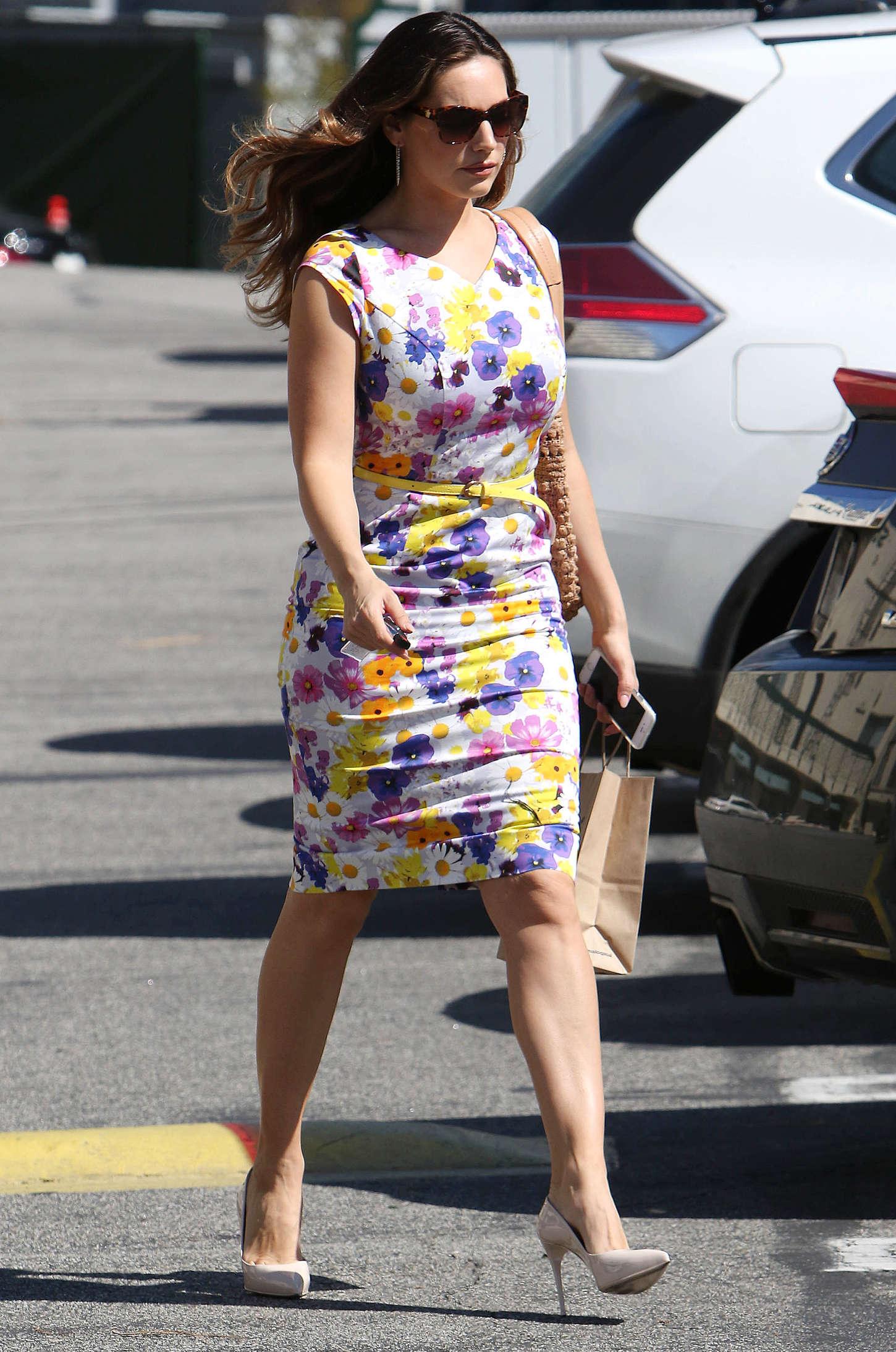 Kelly Brook 2015 : Kelly Brook in Floral Tight Dress -19