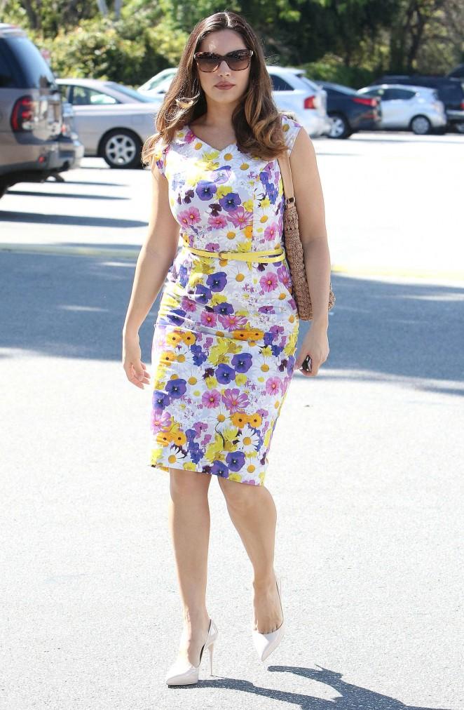 Kelly Brook 2015 : Kelly Brook in Floral Tight Dress -20