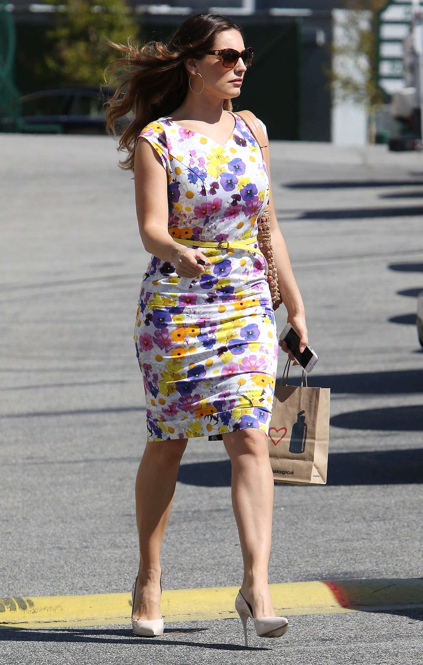 Kelly Brook 2015 : Kelly Brook in Floral Tight Dress -22
