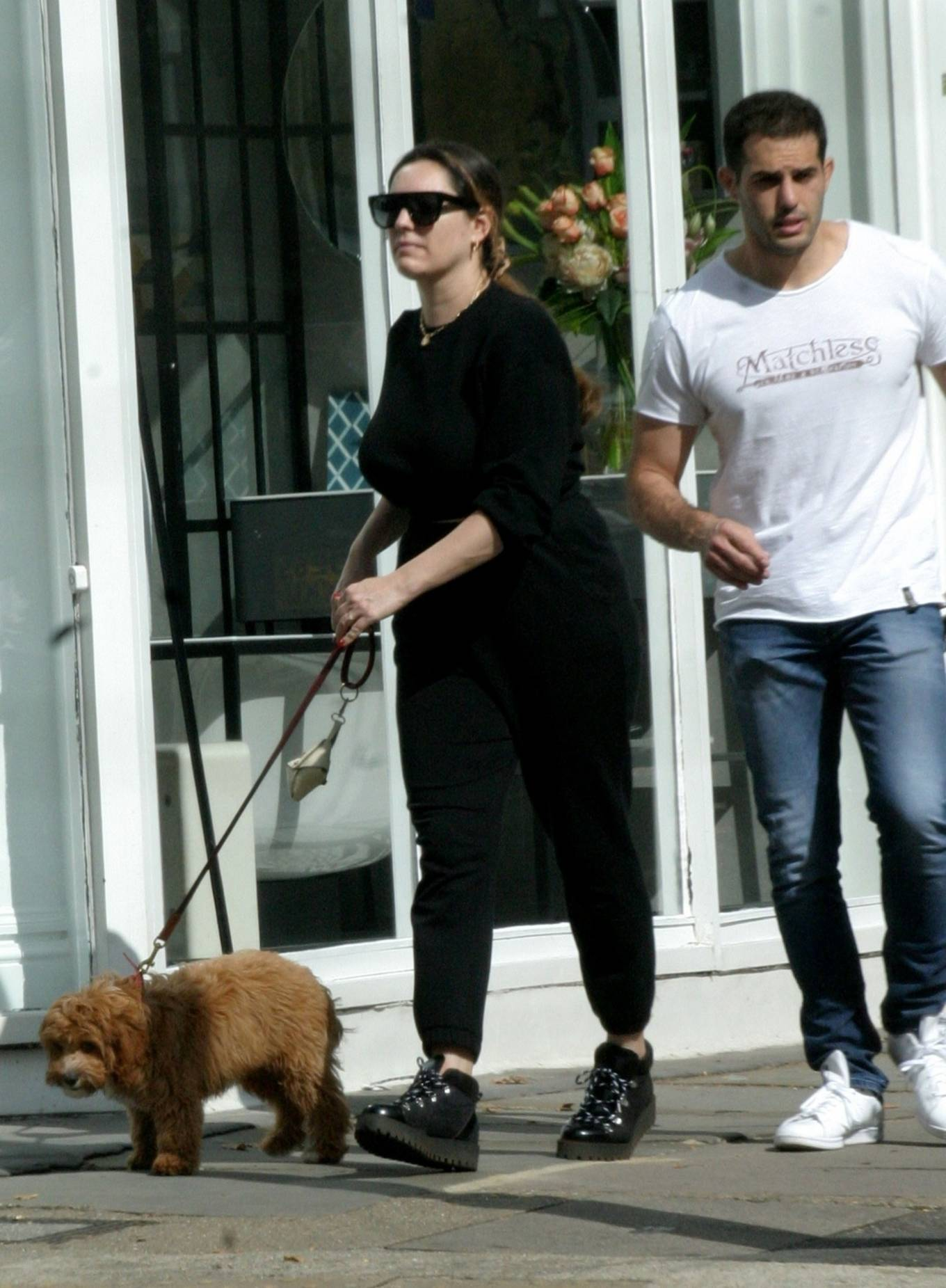 Kelly Brook 2020 : Kelly Brook with boyfriend Jeremy Parisi – Out in Hampstead-02