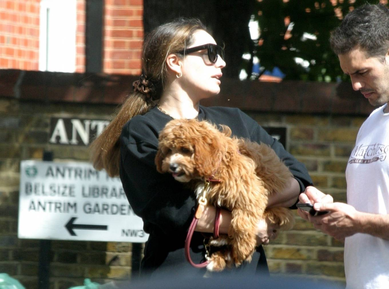 Kelly Brook 2020 : Kelly Brook with boyfriend Jeremy Parisi – Out in Hampstead-14