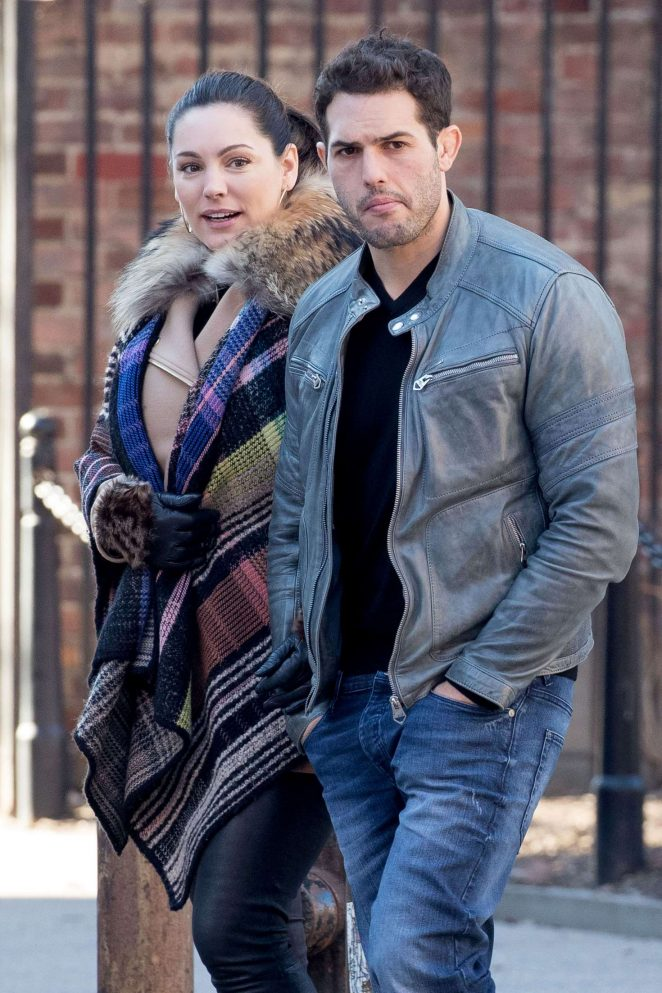 Kelly Brook with boyfriend out in New York