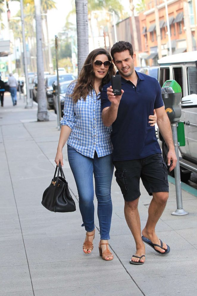 Kelly Brook with her boyfriend out in Beverly Hills