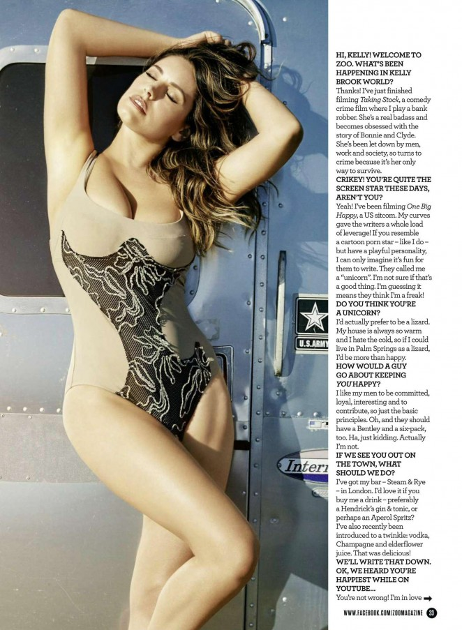 Kelly Brook - ZOO UK Magazine (November 2015)