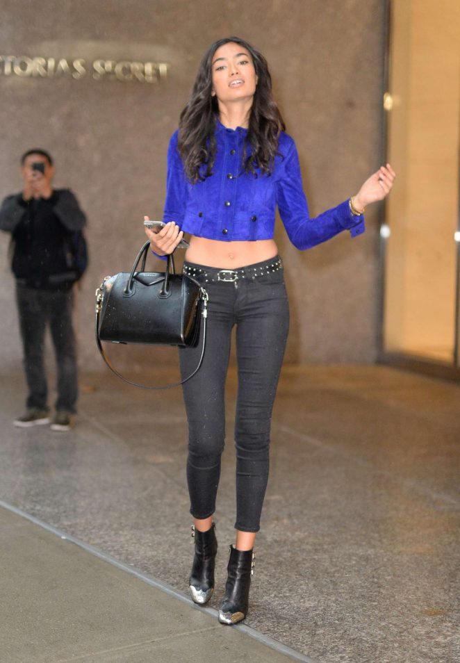 Kelly Gale - Victoria's Secret headquarters in NYC