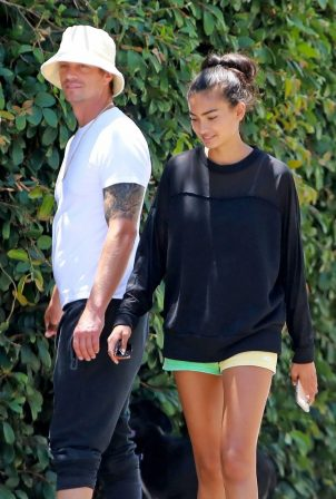 Kelly Gale with Joel Kinnaman in Venice