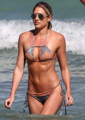Kelly Kelly in Bikini on Miami Beach