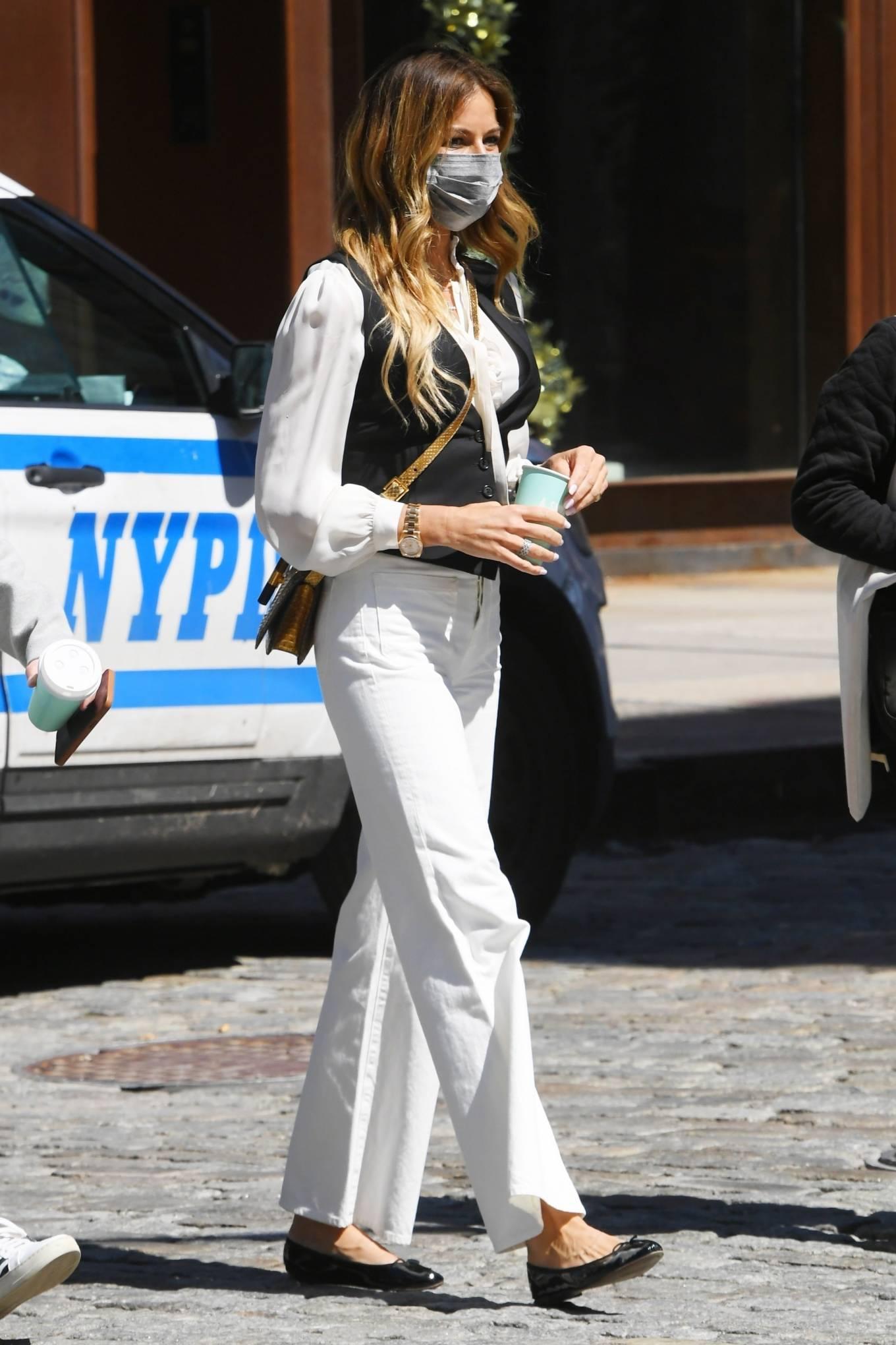 Kelly Killoren Bensimon - Seen in a monochrome outfit in SoHo - New York