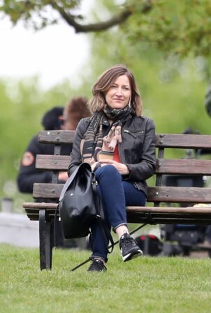 Kelly Macdonald - Filming for Amazon Prime in London