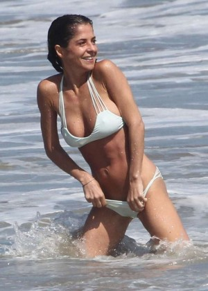 Kelly Monaco in White Bikini in Malibu