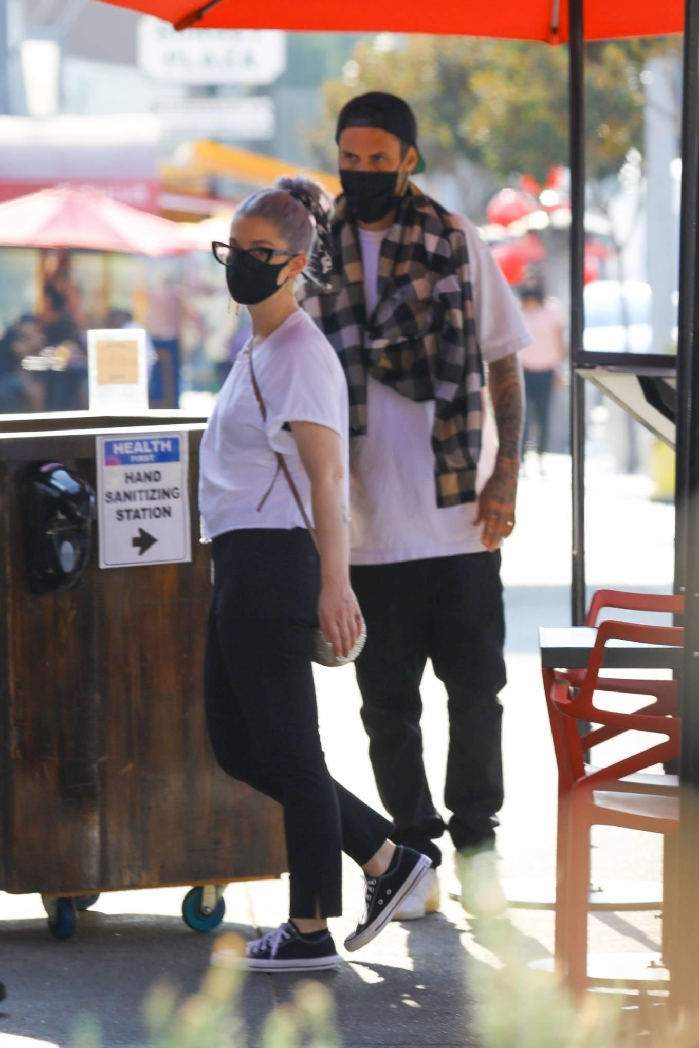 Kelly Osbourne and her boyfriend - Seen at Chin Chin restaurant in West Hollywood
