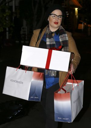 Kelly Osbourne - Christmas shopping at Fred Segal in Hollywood
