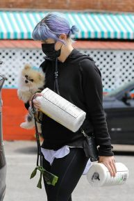 Kelly Osbourne - Spotted with her pooch in Los Angeles