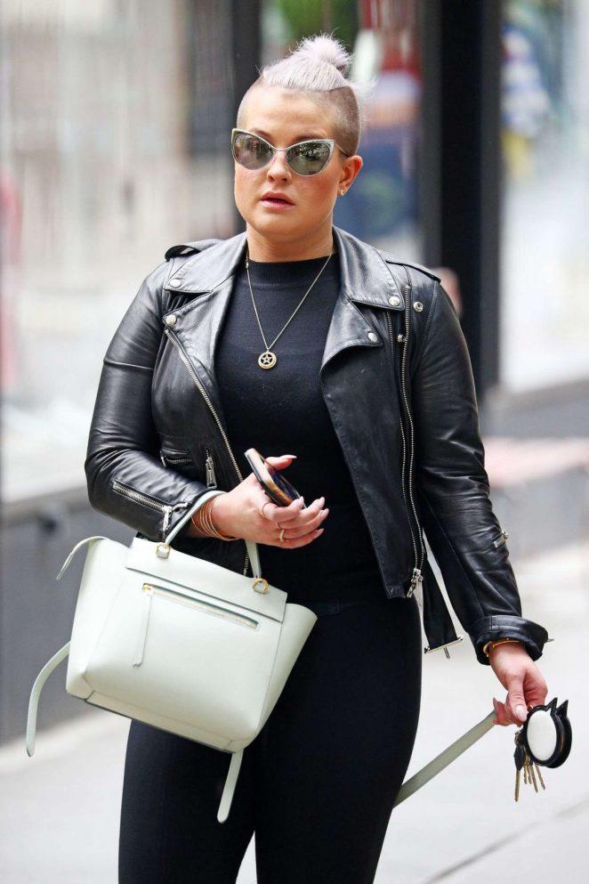 Kelly Osbourne Walks Her Dog in New York