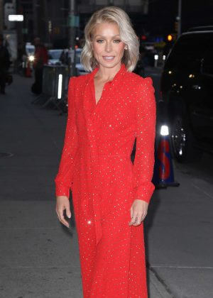 Kelly Ripa at 'The Late Show With Stephen Colbert' TV Show in NY