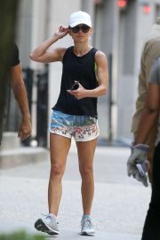 Kelly Ripa in Shorts - Going for a jog in NYC