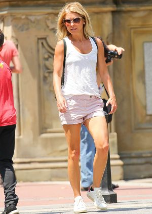 Kelly Ripa in Shorts out in New York City