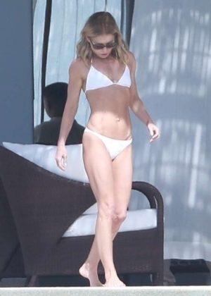 Kelly Ripa in White Bikini in Cabo San Lucas