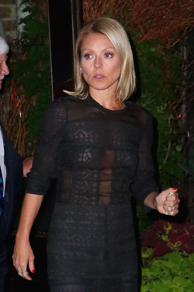 Kelly Ripa Night out in New York